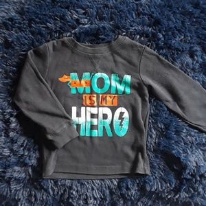 """Mom is my hero"" long sleeved 3T shirt"